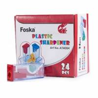 Sacapuntas Plástico Foska con Depósito Colores Surtidos Unidad (Br)