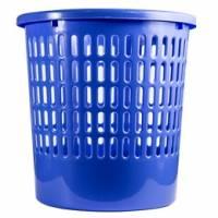 Basurero Plástico Oficina Rejilla Celeste Foska Unidad  (Br)