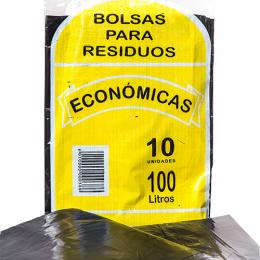 Bolsa para Residuos Común Negro 100 Lts Paquete x 10 Unidades