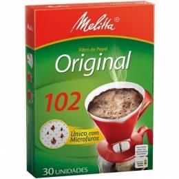 Filtro de Papel para Café Melitta Mediano N° 102 Caja x 30 Unidades