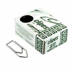 Clip Metálico ACC Triangular Plateado Nº 8 Caja x 25 Unidades