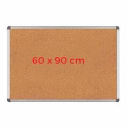 Pizarra de Corcho Marco de Aluminio 60 cm x 90 cm Marrón Unidad (Br)