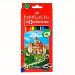 Lápiz de Color Faber Castell Largo Caja x 12 Colores