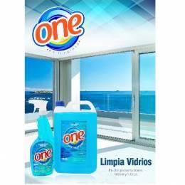 Limpia Vidrios Líquido One 5 Lts Unidad