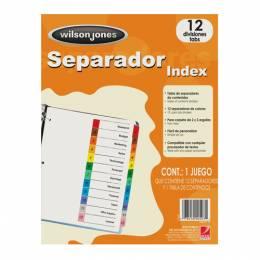 Separador Liso A4 Colores Surtidos Paq x 12 unid INDEX