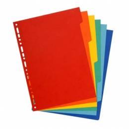 Separador de Plastico Oficio Economico YBL Paq x 12 Colores